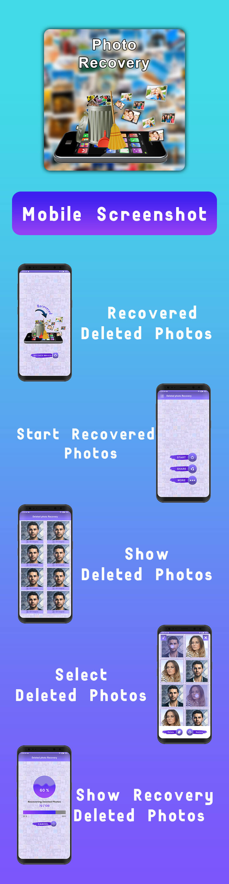 Delete Photo Recovery With Facebook + Admob + Startup Ad Integration - 1